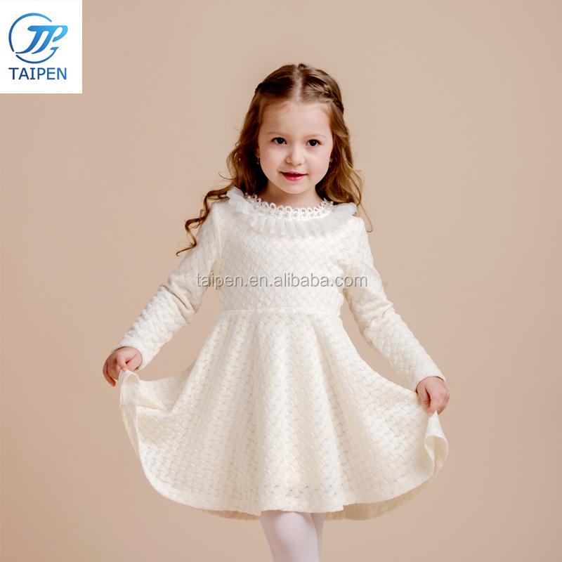 2017 Winter Kids Party Wear Dress With Fleece Lining Fashion Frock Designs For Girl
