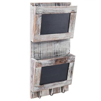 new products 2-Slot Rustic Wall-Mounted Mail Sorter antiques mailbox