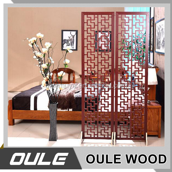 Modern Design Chinese Wooden Folding Screen Room Divider For Sale