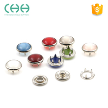 Newest fashion pearl prong snap button for baby garments