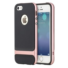 Original Rock Royce Series Soft TPU Case for iPhone SE/5s/5 Check Grain Anti Shock PC Gel Rubber Back Cover MT-5640