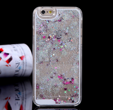 Best selling products luxury bling bling liquid case floating star quicksand phone case for iphone 6 6s plus