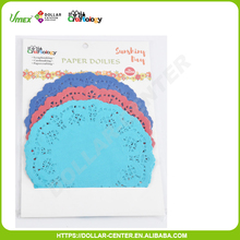 Promotional 4.5'' three color round paper doilies