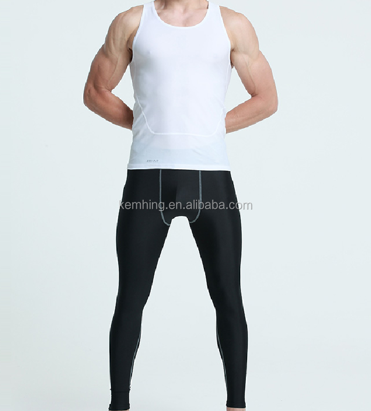 Custom Wholesale compression pants men slimming shorts fitness pants man/custom compression pants jogger pants mens gym shorts