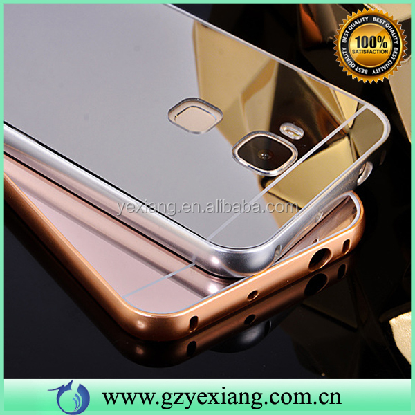 Cell Phone Luxury Bumper Mirror Case Cover For Huawei Ascend G7 Plus G8 D199