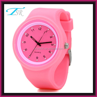 fashion geneva silicone rubber wristband watch,round silicone jelly watch products