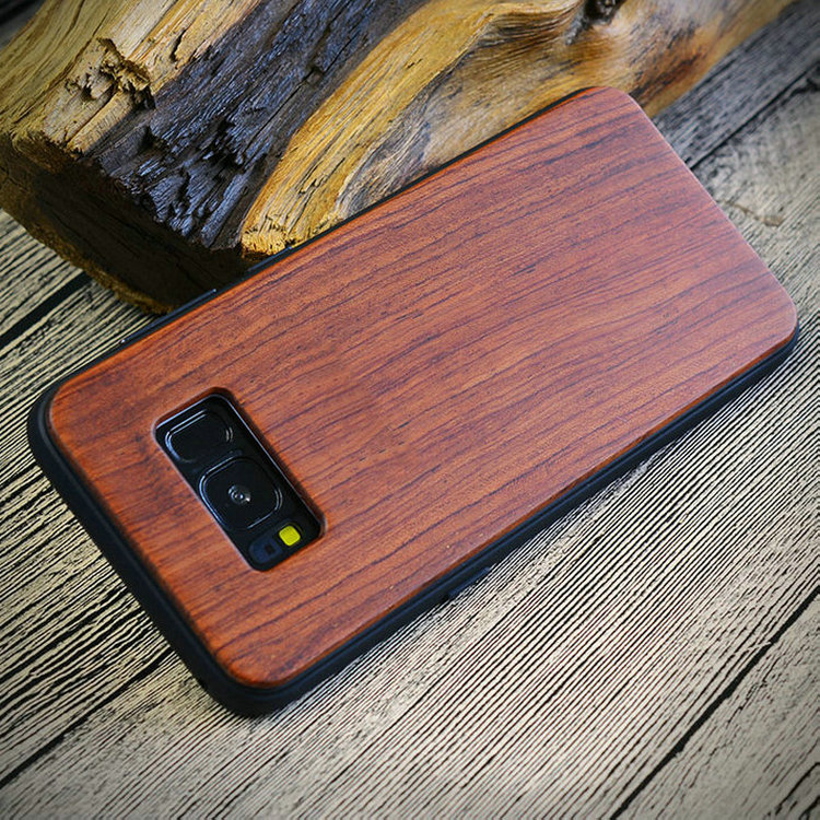 Real Wood Factory Eco Friendly Personalized Wooden Cell Phone Case For s9 plus , Wooden Case Bamboo For s9