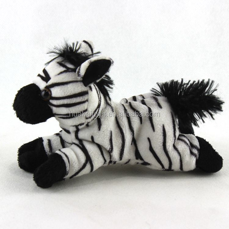"6.5"" zebra stuffed animal plush toy zebra toy zoo animals hot sale"