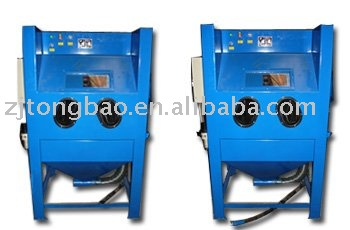 Suction sand blasting cabinets