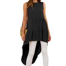 Sexy Backless Bohemian Style Irregularity Long Vest Women's Top