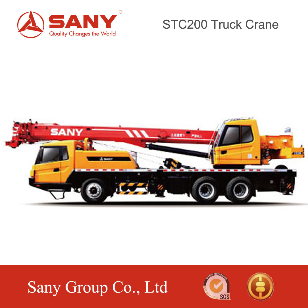 SANY STC200 20 Tons Adjustable Hydraulic System Mobile Crane of Mini Truck Mounted Crane for Energy Saving of 16 ton Truck Crane