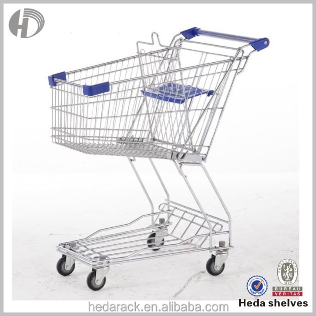 2015 hot-selling 2-tier trolley cart vegetable with seat
