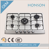 Italy kitchen appliances stainless steel 5 burner commercial gas burner built-in gas stove gas built in hobs prices HS5601