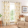 100% Polyester Leave pattern Window curtain Coverings For bedroom