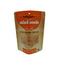 Biodegradable moistureproof stand up printed zipper seed kraft paper pouch with window
