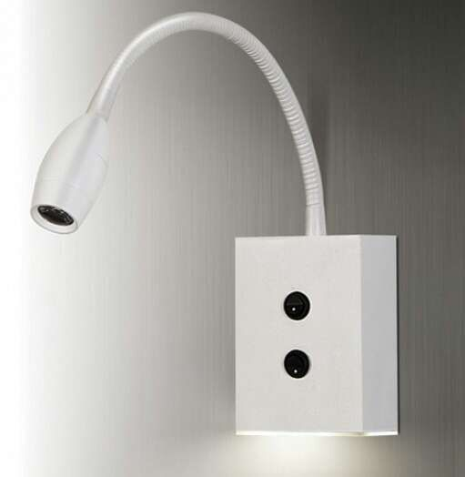 hotel wall lamp flexible goose neck led wall mounted light