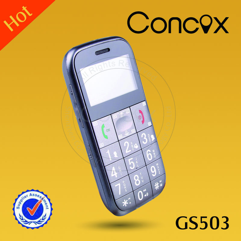 Concox 2013 hot-sale sos button elderly cell phone GS503