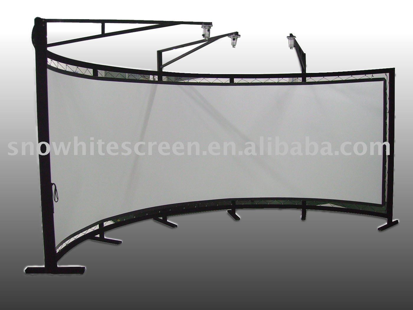 180 degree, 2.35:1 curved Fixed Frame projection screen/ projector screens