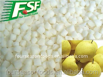 2017 New crop IQF snow pear dices (10mm *10mm )