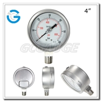 High quality all stainless steel bourdon tube pressure 100mm manometer