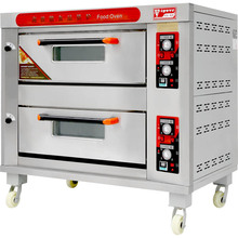 Commercial Bakery Machine Gas Deck Oven With Steamer and Lava Stone
