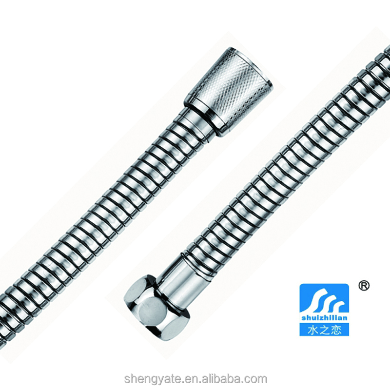 s-4 flexible extension stainless steel toilet hose,long shower hose with double lock,1.5meter