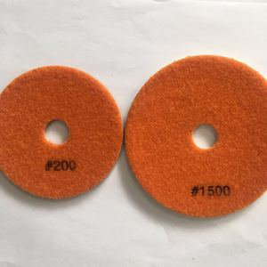 hot sale 4 Inch Flexible wet granite 7 step diamond polishing pads for angle grinder