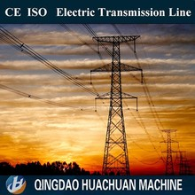 steel electric power transmission line steel pole towers