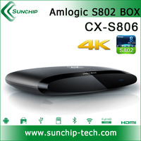 Latest S806 Amlogic S802 Quad Core Android 4.4 Smart TV Box XBMC Media Player 4K Miracast S802 XBMC 3D Blu-ray 4K Wifi player