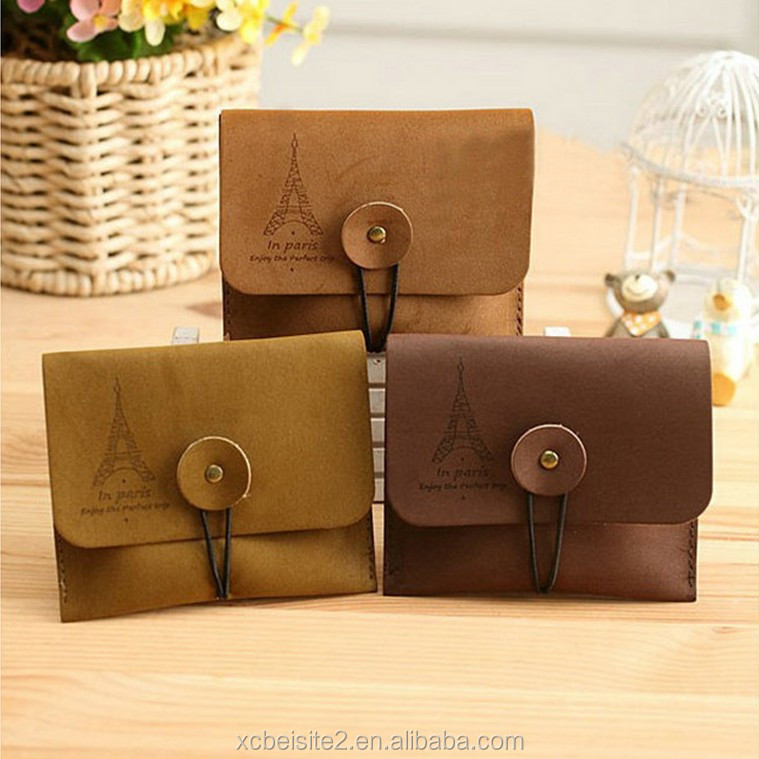 B036 Hot selling mini quality leather Coin purses