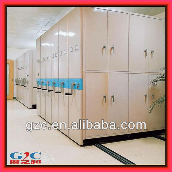 CE ISO9001 High Density Office Filing Cabinet Manual Mobile Shelving Library Storage Shelves
