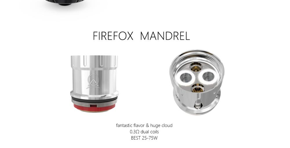 Top Filling Top Air Inflow Hugh Cloud Good Flavor Chaser Ample Firefox ECig Sub Ohm Vapor Vape Tank