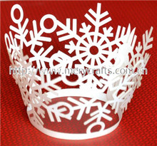 modern design! laser cut snowflake cupcake wrapper christmas craft ideas