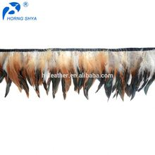 TOP10 Feather Wholesale HS-208 Half-Bronze Schlappens Fringe Cock Feather Trimming