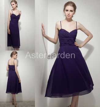2017 Factory Direct Real Photo astergarden new style A-line spaghetti straps knee-length chiffon short evening dress