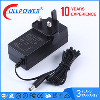 36w series power supply 24v1.5A power adapter with UK EU US AU KC Plug for set top box