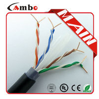 Black Outdoor Cable With UV Protection Outdoor Network Cable Cat.6 305m/Box 23AWG