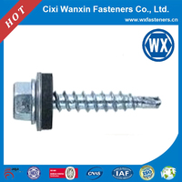hex head self drilling screw with rubber washer, countersunk head self drilling roofing screw