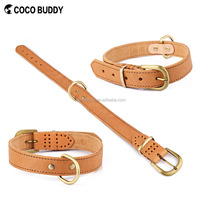 Strong Genuine Cow Leather Spike Large Dog Training Collar Pet Products