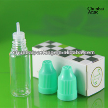 wholesale 10ml pet sterile eye drop bottle with labels with child safety cap long tip tactile blind mark 9mm