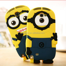 Flip case cover for samsung galaxy note3,soft silicone minion despicable me case for samsung galaxy note3
