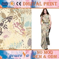 Custom Digital Printing Silk Cotton Men's Shirt Fabric