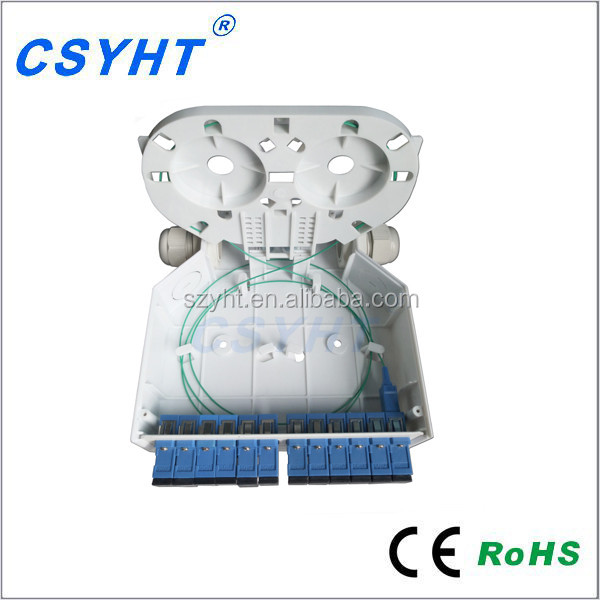 FTTH DIN Rail Fiber optic terminal box with 6 SC Adapter of Plastic