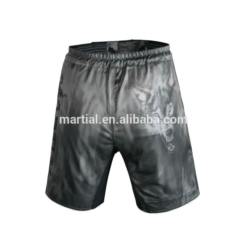 wholesale 1pc /10pcs /20pcs mens awesome wolf print mma shorts