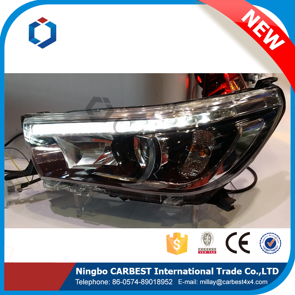 High Quality High Profile Modified Type Hid Head lamp for Toyota Hilux Vigo Revo 2016