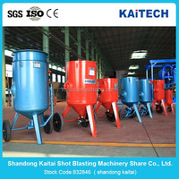 Dust free sandblasting machine mobile unit, Short blasting machine