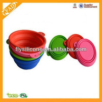 Promotional Item Exquisite Design Portable Silicone Pet Travel Drinking Bowl