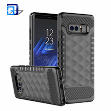 2018 Diamond Pattern Slim Armor Hybrid Heavy Duty Dual Layer Protective Shockproof PC TPU Skin Cover For Samsung Galaxy Note 8