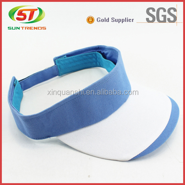 Adjustable empty top hat cheap sun visors wholesale