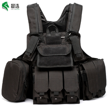 Durable body armor police tactical vests tactical paintball vest gears safety plate carrier military vest